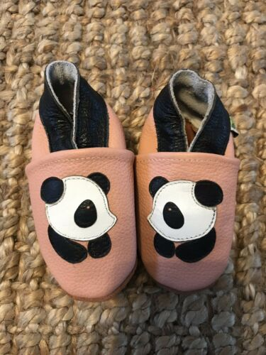Augusta Baby Collections Shoes Premium Grade Leather 0-6 Months Panda Design