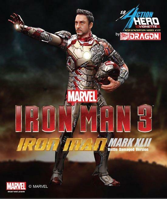 Dragon 1 9 Iron Man 3 Mark XLII Battle Damaged Version Vignette Model 38118