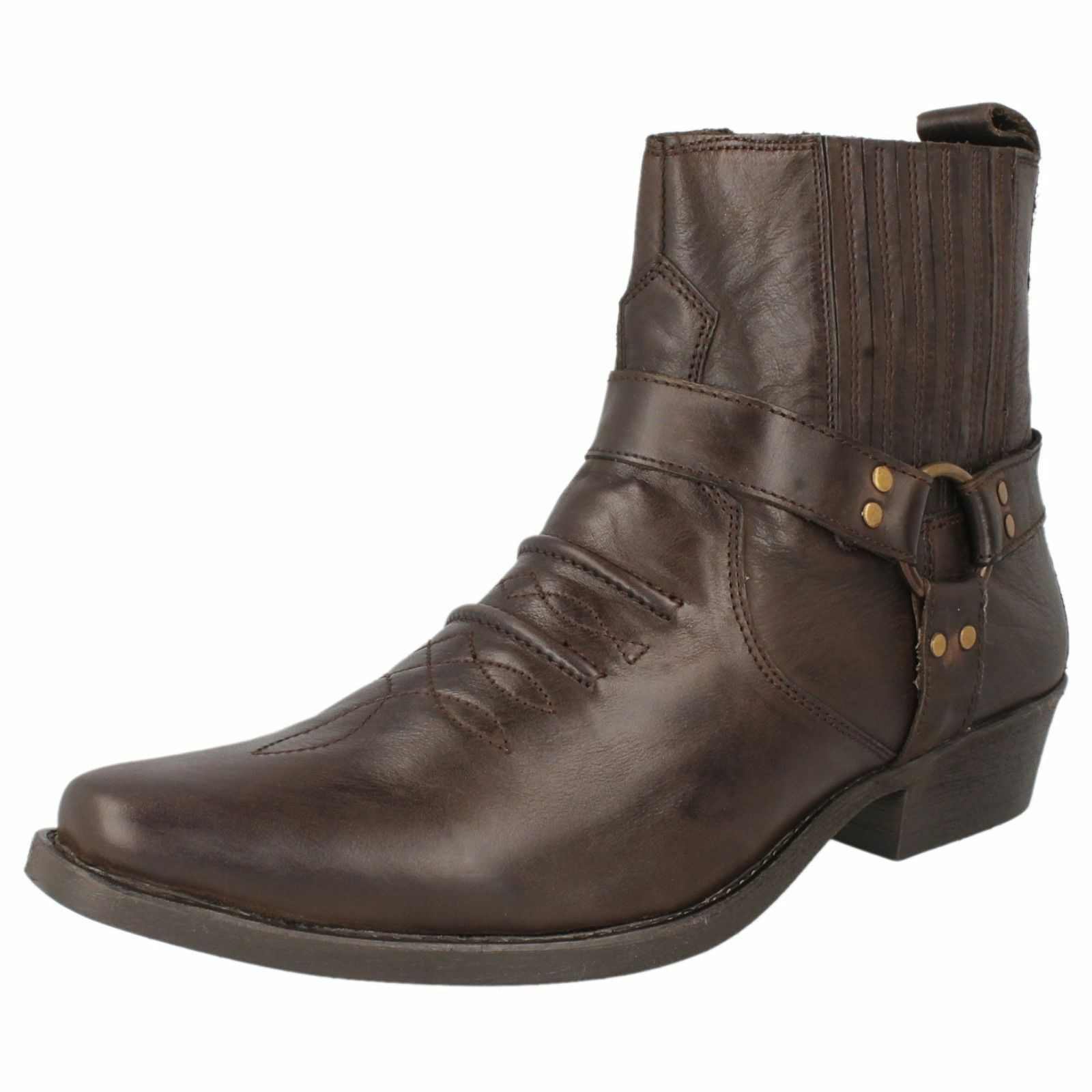 Maverick A3R003 Herren Hellbraunes Leder Mode Stiefel UK Zum Reinschlüpfen UK Stiefel 8 X 526b0f