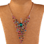 Colorful-Rhinestone-Crystal-Peacock-Choker-Bib-Statement-Gold-Chain-Necklace-Hot thumbnail 3