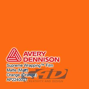 36,65 € // m Avery Supreme Car Wrapping Film Folie orange matt 3 m
