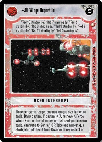 Star Wars CCG Reflections I VRF Very Rare Foil All Wings Report In