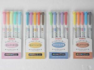 NEW-Zebra-Mild-Liner-Color-Gel-Ink-Marker-Pen-Set-WKT7-Free-ship-from-JAPAN