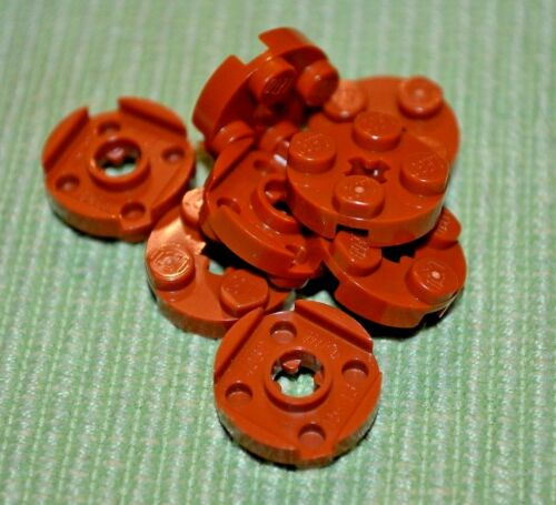(8) Dark Orange 2x2 Round Standard Plate Brick Bricks ~  Lego  ~ NEW ~