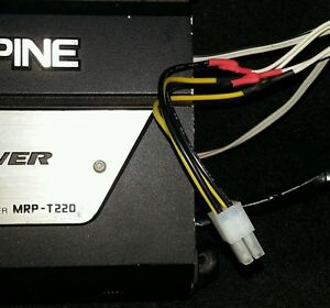 Remarkable Alpine 4 Pin 2 Channel Speaker High Level Input Cable Amp Car Audio Wiring 101 Capemaxxcnl