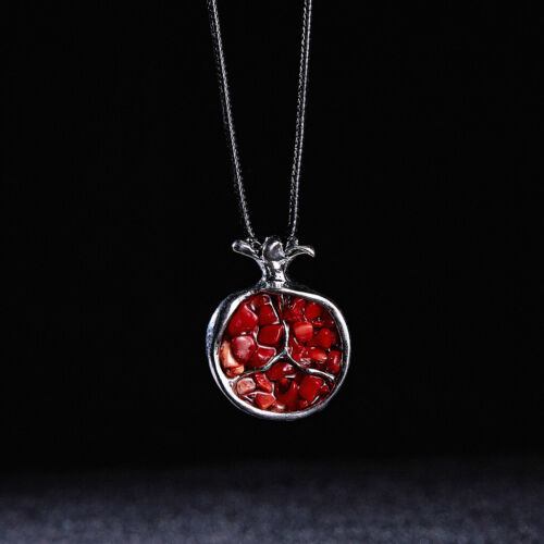 Fruit rouge grenade Pierre Collier Pendentif long pull chaîne Fashion Jewelry