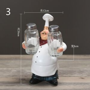 Resin-Chef-Figurine-Figure-Ornament-Statue-Model-Cook-Home-Cute-Restaurant-Decor
