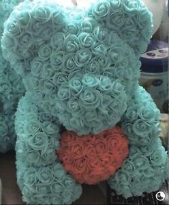 "Rose Heart Teddy Bear Large Luxury 16"""