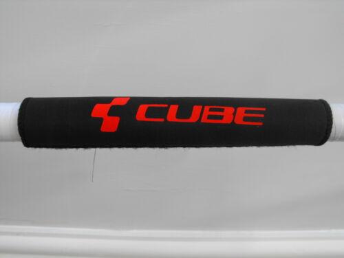 """/""""CB-ROUGE/"""" Néoprène Quick Fit Chain Stay Cadre Protecteur-Noir-Dernier Design"""