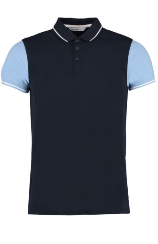 KK415 Kustom Kit Homme Contrast Tipped Polo T Shirt à Manches Courtes Smart Workwear