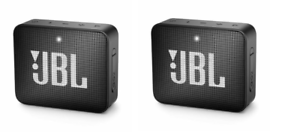 SET OF 2!! JBL Go 2 Portable Bluetooth Speaker - Black JBLGO2BLKAM
