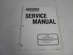 force factory outboard motor service manual 1996 25 hp 90 830894 ebay rh ebay com 76 Rupp 440 Cooling System Diagram Parts of a Sailboat Diagram
