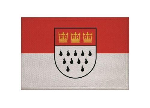 Aufnäher Köln Fahne Flagge Aufbügler Patch 9 x 6 cm