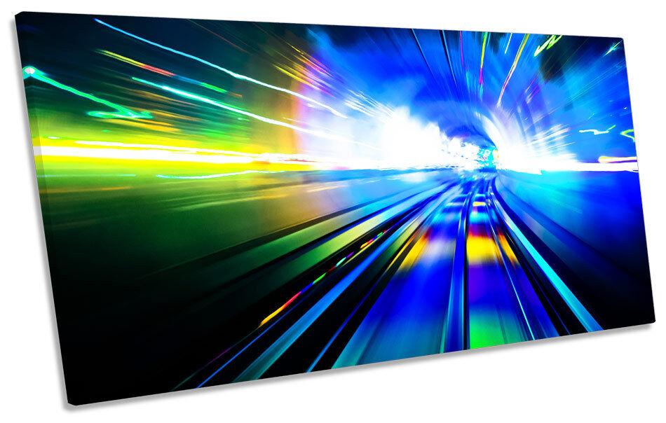 Abstract Tunnel Lights CANVAS Kunst Drucken Panoramic Bild