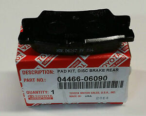 Image Is Loading 2007 2017 Camry Rear Brake Pads New Genuine