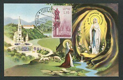 100% QualitäT Italien Mk 1958 Lourdes Maximumkarte Carte Maximum Card Mc Cm 60645