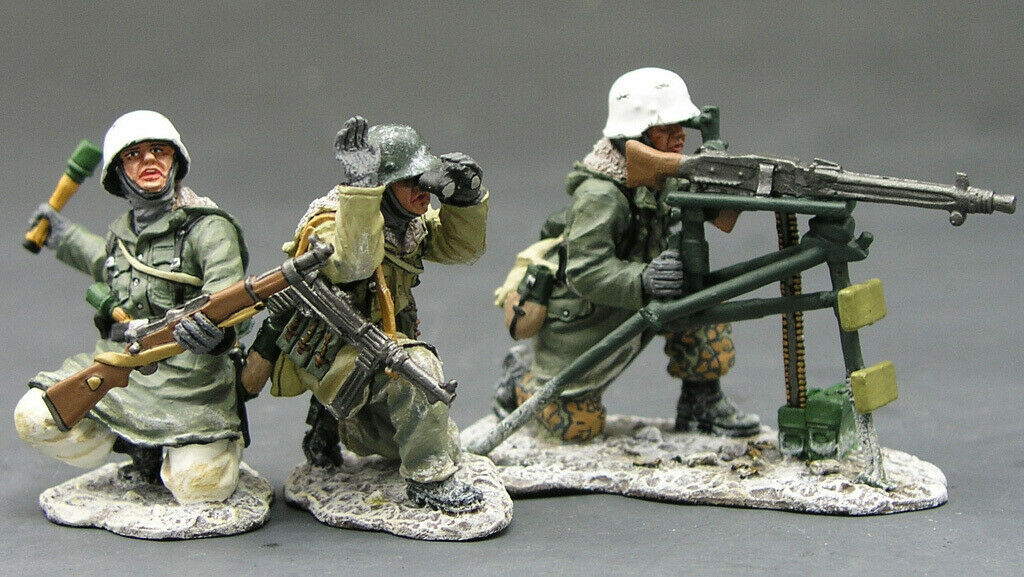 KING AND COUNTRY WSS082 WSS082 WS082 MG42 SET - 1 30 SCALE GERMAN FORCES WWII