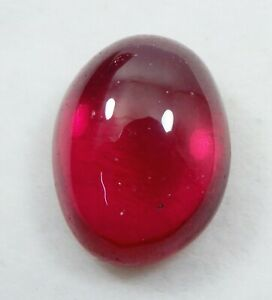 Oval Cabochon 2.55 Ct Burma Red Ruby Loose Gemstone 100/% Natural AGSL Certified D7738