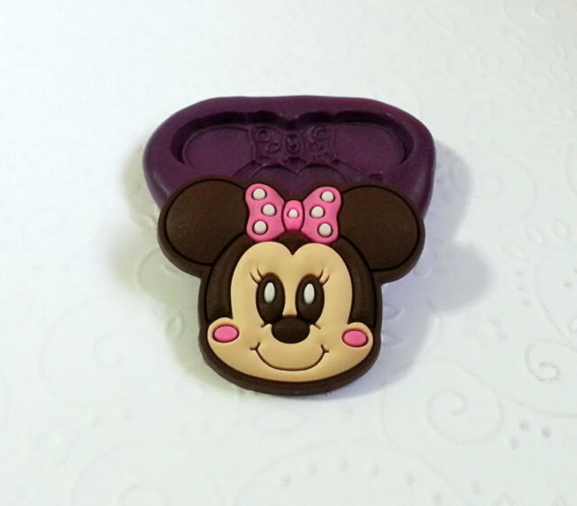 Silicone Mold Baby Minnie Mouse (36mm) Fondant Icing Chocolate Clay Jewelry