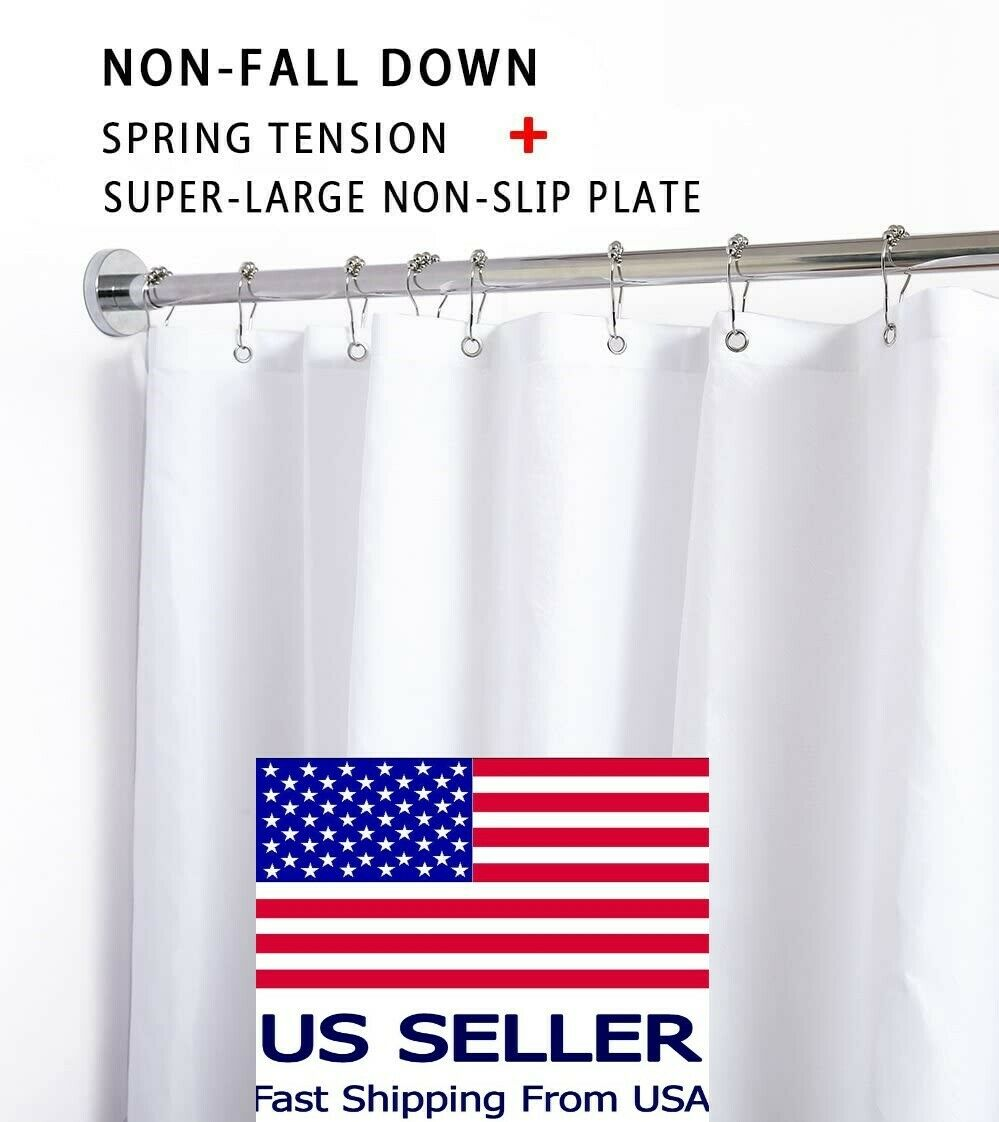 Briofox Shower Curtain Rod 42 72 Inches Spring Tension X05 For Sale Online Ebay