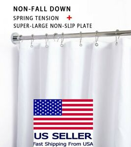 Briofox Stainless Shower Curtain Rod 42 72 Inches No Rust No Slip Spring Tension Ebay