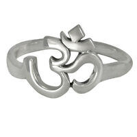 Sterling Silver Aum Symbol Ring - Hindi Buddhist ॐ Eastern Philosophy Jewelry