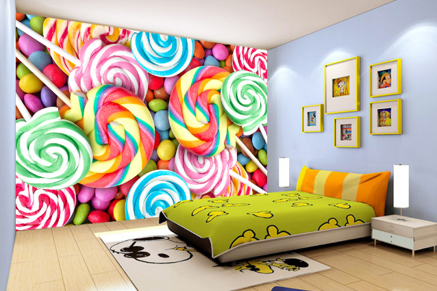 3D Farbeful Lollipop 7 Wall Paper Murals Wall Print Wall Wallpaper Mural AU Kyra