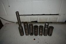 2 Od Turret Lathe Machine Adapter Sleeve Tool Holder Shank Reducer Lot Of 7