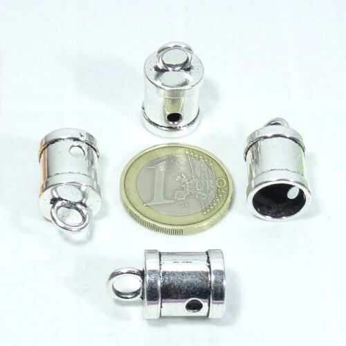 12 Terminales 22x13mm T502C  Plata Tibetana End Caps Perline Perlen Terminali