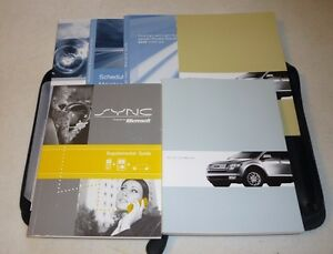 2008 ford edge owners manual 08 set w case sync guide. Black Bedroom Furniture Sets. Home Design Ideas
