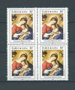 CROIX-ROUGE-2002-YT-3531-bloc-de-4-TIMBRES-NEUFS-MNH-LUXE