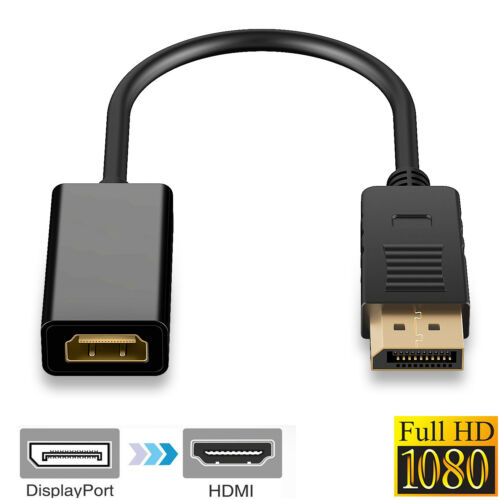 For Dell ThinkPad Lenovo HP PC HD TV Display Port to Hdmi Video Adapter Converte