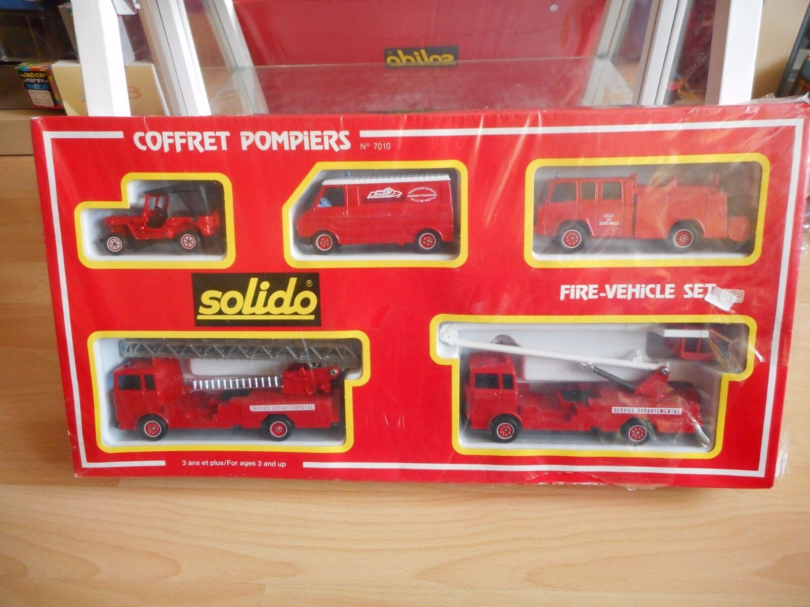 Solido Coffret Pompiers Gift set in Box (Sealed) (solido nr  7010)
