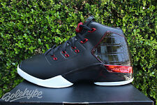 NIKE AIR JORDAN 17 RETRO XVII SZ 9 CHICAGO BULLS OG BRED BLACK RED 832816 001