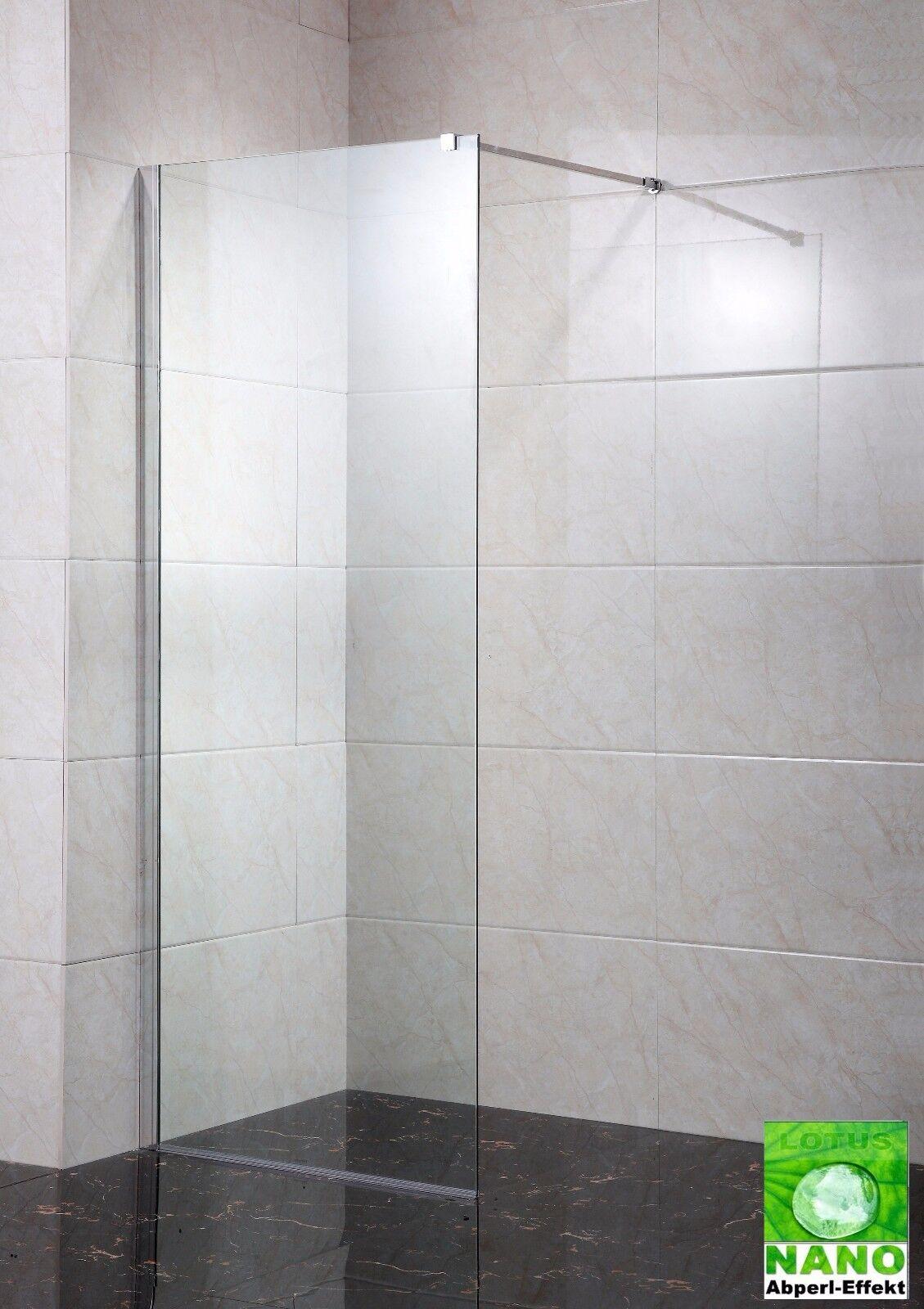 Duschkabine Duschwand Dusche Duschabtrennung Walk-in Nano ESG 10 mm. Seitenwand