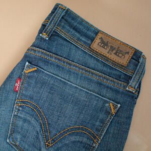 Vintage-Levi-627-Jeans-Blau-Denim-Gerades-Bein-Reissverschluss-Damen-W-26-L-32