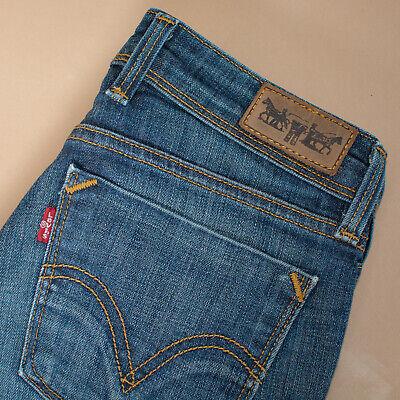 Vintage Levi 627 Jeans Denim Blu Gamba Dritta Cerniera Women's W 26 L 32-mostra Il Titolo Originale
