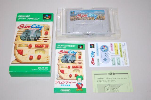 Sim City Japan Nintendo Super Famicom sfc game