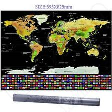 Travel tracker big scratch off world map poster with country flags item 5 new travel tracker big scratch off world map poster with us states country flags new travel tracker big scratch off world map poster with us states gumiabroncs Gallery