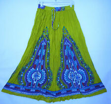 Women Lady Girl A-Line Boohoo Hippie Vintage Spring Summer Indian Skirt OneSize
