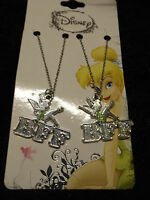 Tinkerbell Best Friends Charm Necklace Fashion Jewelry Disney Bff Friend