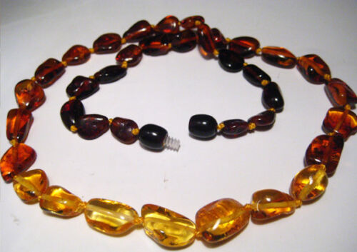 "Genuine  Baltic Amber Necklace  19.6/""  50cm"