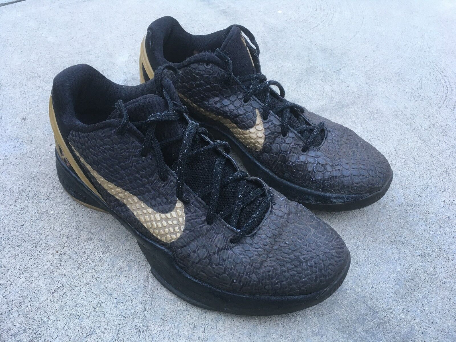 Nike zoom kobe 6 vi bhm month sz 10 schwarz history month bhm mamba gold 3de584
