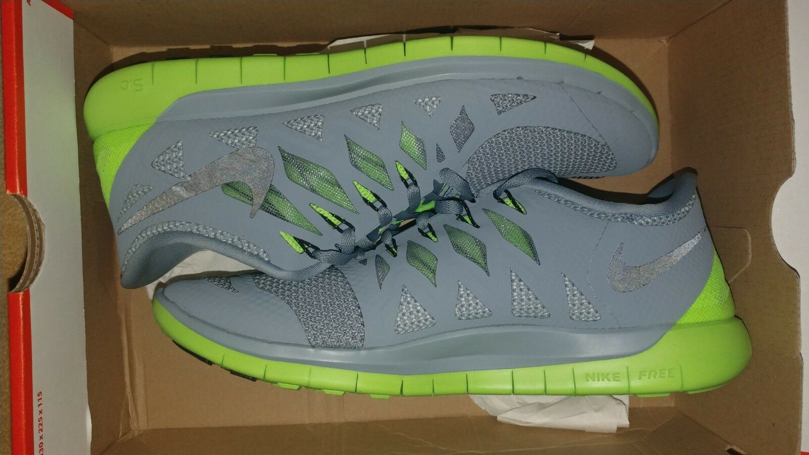 Nike Free 5.0 MGNT GRY BLK-ELCTRC GRN-LT RARE 10.5 NEW Authentic Fast Shipping
