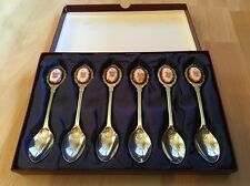 Beautiful Set Of 6 Silver Plated Tea Spoons & Fine Porcelain II
