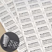 Sticker VOID  Sicherheit Siegel 88 Stk. Aufkleber Manipulationssicher Hologramm