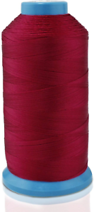 Aussel Bonded Nylon Sewing Thread 1500 Yard Size T70 #69 for the Upholstery Red