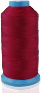 Aussel Unido Nailon Hilo De Coser 1500 yarda Talla T70 #69 para la tapicería Rojo