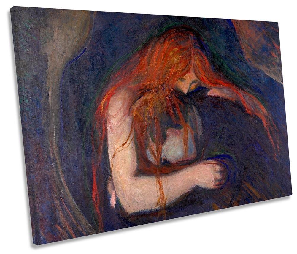 Edvard Munch Vampire SINGLE CANVAS WALL ART Print