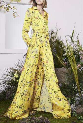 DMS 2020 femme robe longue avec ballon manches Côté Jambe Split dans floral